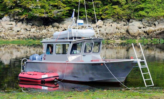 28ft Trawler Boat Rental In Sitka, Alaska