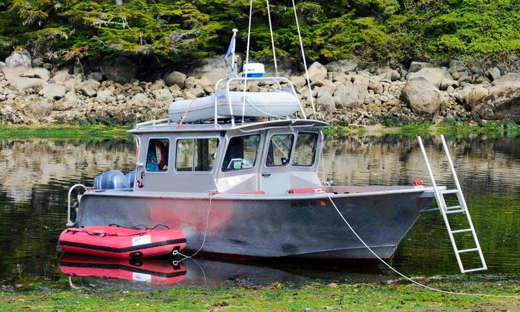 28ft Trawler Boat Rental in Sitka, Alaska