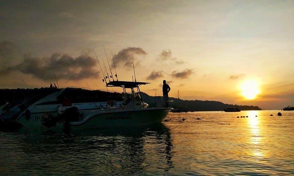 Enjoy Fishing in Phuket, Thailand on Center Console