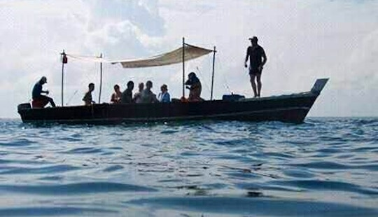 Experience A Traditional Tanzanian Boat That Seats 8 People!