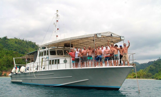 Motor Yacht Sleep Aboard Rental In Padang, West Sumatra, Indonesia.