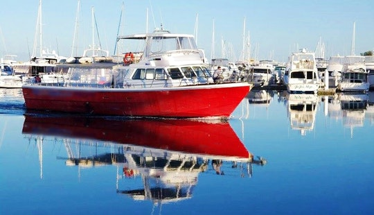 Live-a-board Fishing Trip Boat On Montebello Islands, Australia
