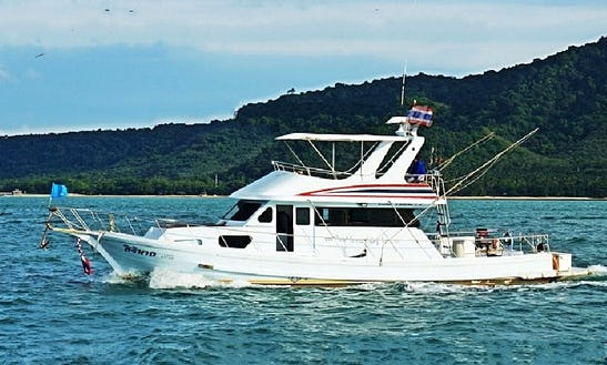 Fishing Trip With The Best Crew On 53' Motor Yacht In Phuket, Thailand!