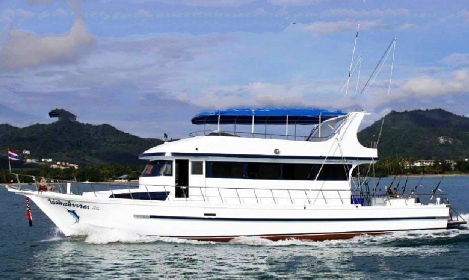 Enjoy Fishing in Phuket, Thailand on 58' Motor Yacht
