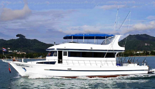 Enjoy Fishing In Phuket, Thailand On 58' Motor Yacht