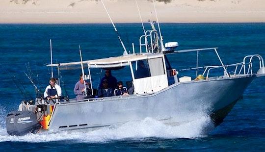 Enjoy Fishing In Exmouth, Australia On Osso Blue Cuddy Cabin