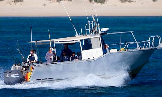 Enjoy Fishing In Exmouth, Australia On Osso Blue Cuddy Cabin