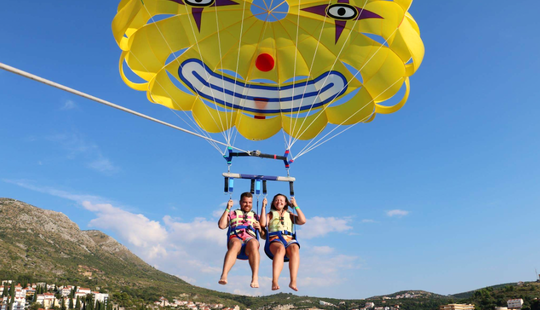 Enjoy Parasailing In Dubrovnik, Croatia