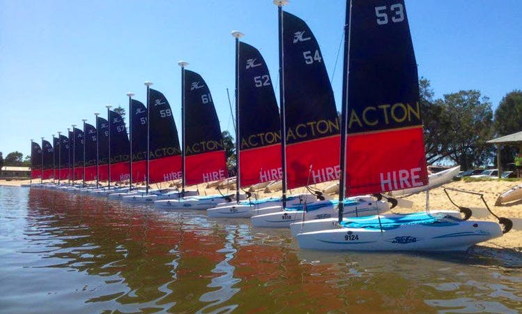 Enjoy Hobie Wave Beach Catamaran Hire in South Perth, Western Australia