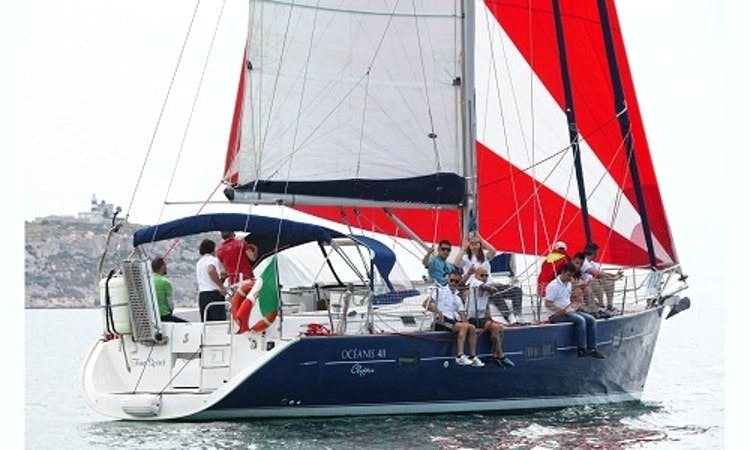 Captained Oceanis 411 Clipper Charter for 12 People in Cagliari, Italy