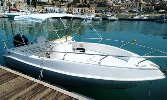 Rent 18' Blue Marine 001l Center Console In Castellammare Del Golfo, Sicilia