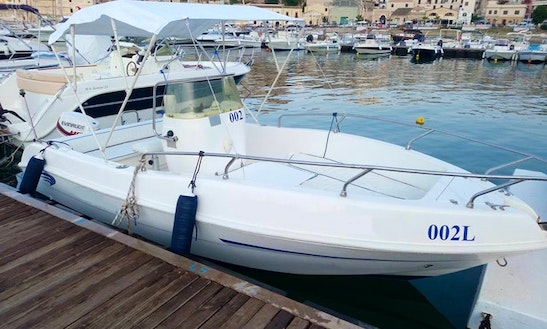 Rent 18' Blue Marine 002l Center Console In Castellammare Del Golfo, Sicilia