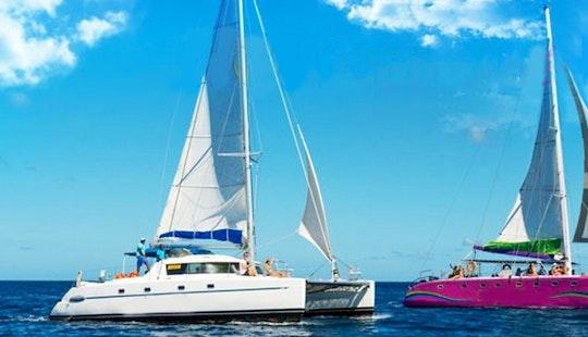 Catamaran Party-three Northern Islands Of Mauritius