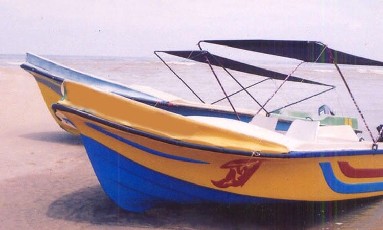 Rent a Powerboat with 15 hp Outboard Engine in Negombo, Sri Lanka