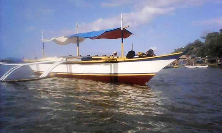 Charter Sa Dios Umasa Traditional Boat in Paracale, Bicol For 20 Pax