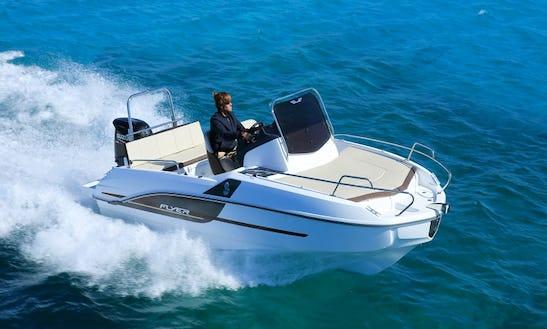 Rent The Flyer 5.5 Sundeck Powerboat In Torroella De Montgrí, Catalunya