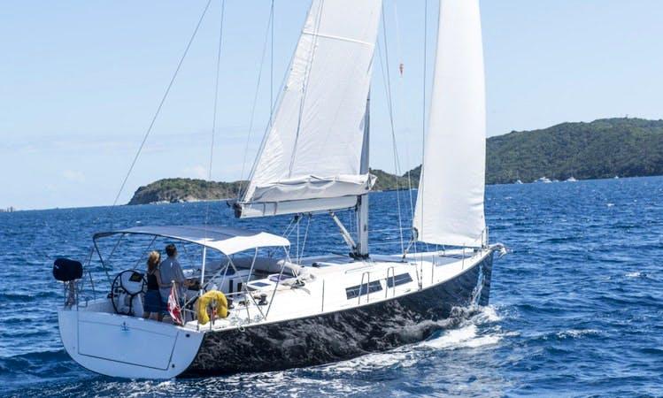 "Charter 44ft ""Dalika"" Hanse 445 Sailing Yacht in Tortola, BVI"