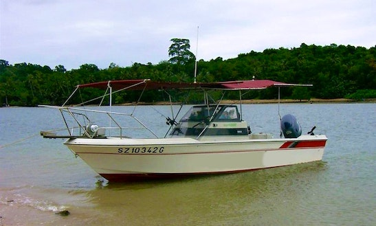 Enjoy Fishing In Singapore On Center Console