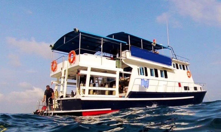 Live onboard this Dive Boat In Batam, Riau Islands, Indonesia