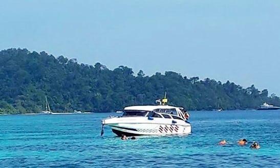 Enjoy Boating On A Motor Yacht In Tambon Ko Lanta Noi, Thailand