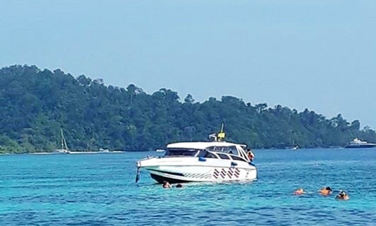 Enjoy Boating On A Motor Yacht In Tambon Ko Lanta Noi, Thailand