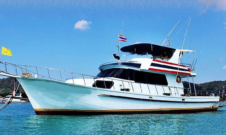 Enjoy Fishing in Phuket, Thailand on 60' Motor Yacht