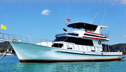 Enjoy Fishing In Phuket, Thailand On 60' Motor Yacht