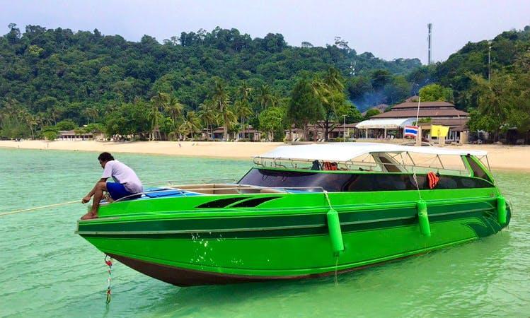 Captained Charter on 3-Engine Speed Boat from Tambon Ko Lanta Noi