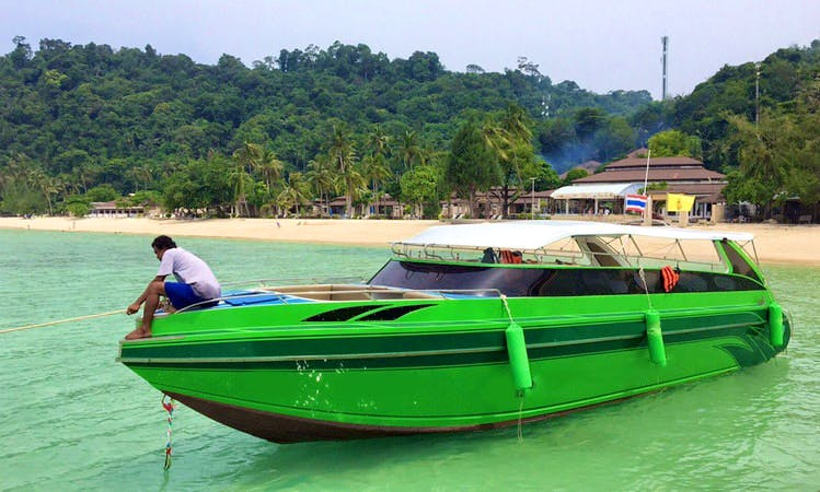 Captained Charter on 3-Engine Speed Boat from Tambon Ko Lanta Noi