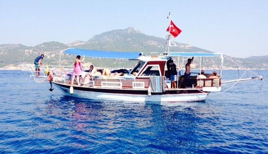 Cruise Around Antalya On This 10 Person Yacht