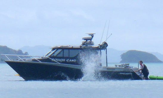 Enjoy Fishing In Auckland, New Zealand On 29' Roughcast Cuddy Cabin