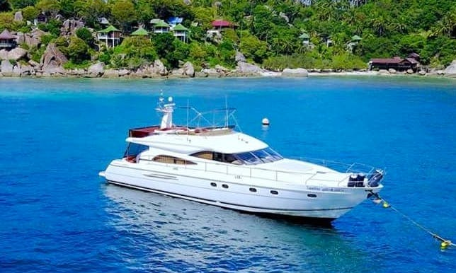 Captained Charter 25 People Aboard a Luxury Motor Yacht in Ko Samui, Thailand