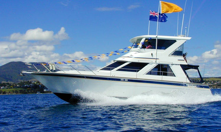 (WITH SKIPPER ONLY) 43ft 'Solamaar' Motor Yacht in Lake Taupo, New Zealand