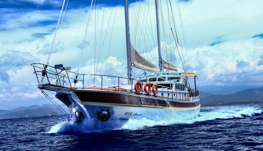 Sailing Gulet In Corfu -greece