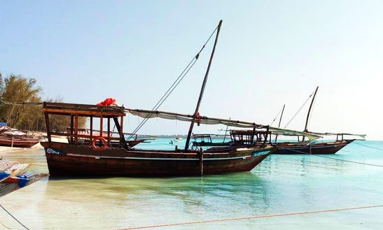 Sailing Dhow Boat On Zanzibar Island For 15 People!