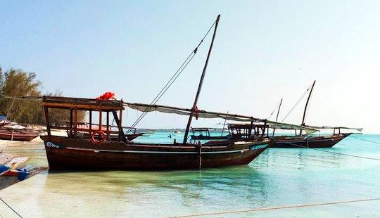 Sailing Dhow Boat On Zanzibar Island For 15 People!