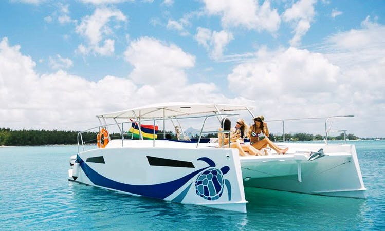 Charter a Luxury Power Catamaran, inc. Butler Service, from Balaclava, Mauritius