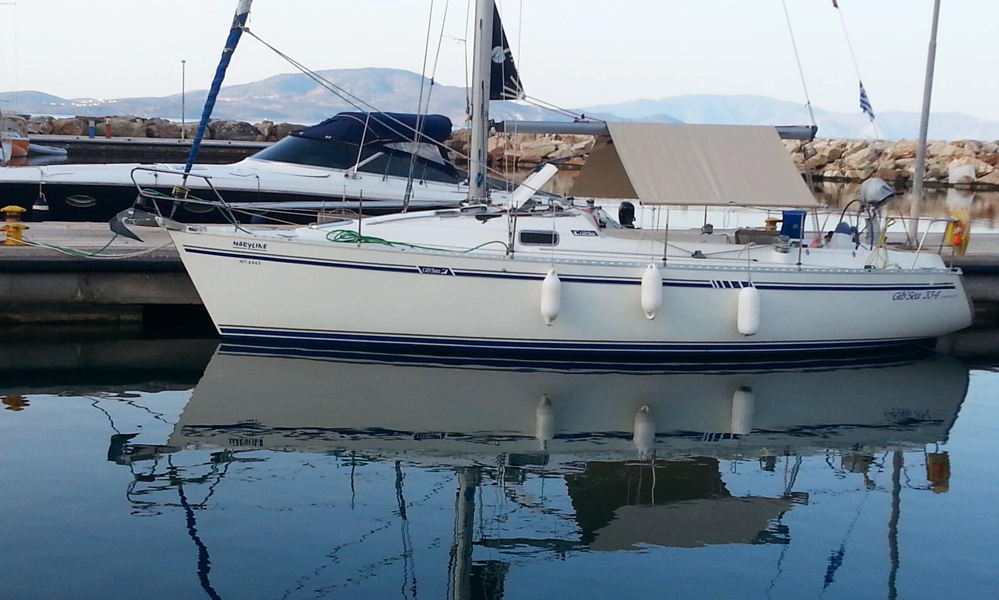 Cruising Monohull rental in Vlichada Santorini  (included skipper)