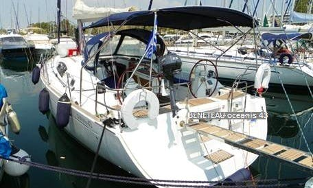 Rent this 10-person Beneteau Oceanis 43 sailing monohull in Heraklion, Greece