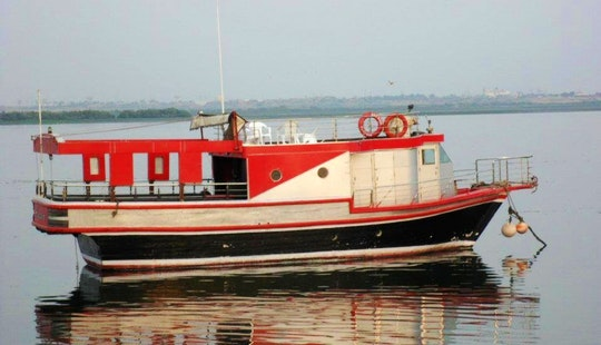 Charter House On Sea Passenger Boat In Karachi, Pakistan