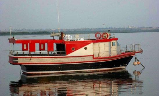 Charter House On Sea Passenger Boat In Karachi, Pakistan