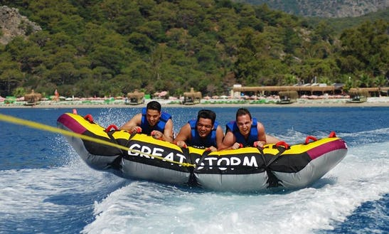 Enjoy Tubing At Ded Sea Beach In Muğla, Turkey