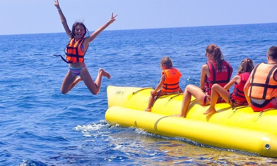 Enjoy Banana Boat Rides In Antalya, Turkey