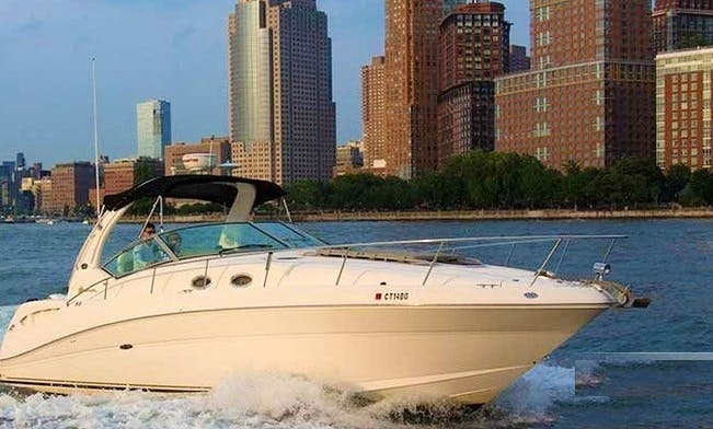 """Knotty Kitty"" a 38' SeaRay for New York Harbor"