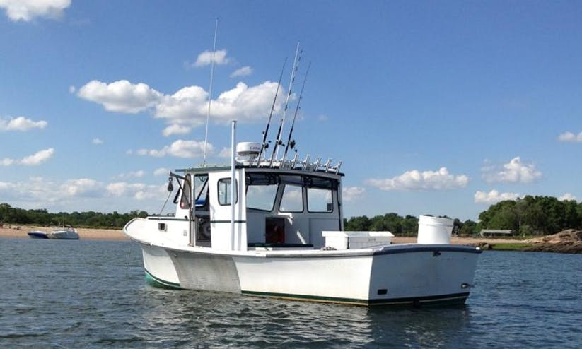 Enjoy Fishing On Webber's Cove Downeast-Style Boat In Branford, Connecticut