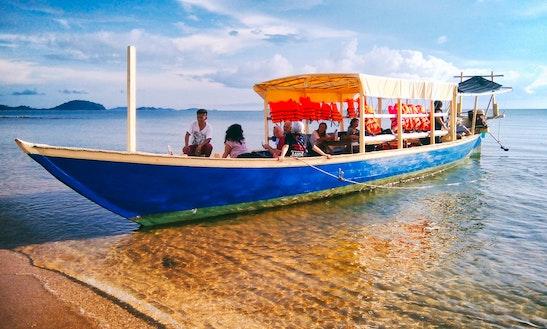 Charter 49' Khmer Passenger Boat In Krong Kaeb, Cambodia