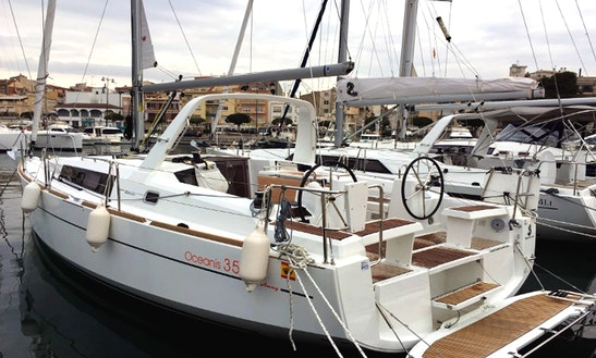 Charter This Beneteau Oceanis 35 Sailboat In Barcelona, Spain
