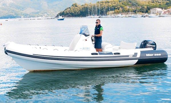 Rent 23' Mar Sea Rigid Inflatable Boat in Marciana Marina, Italy