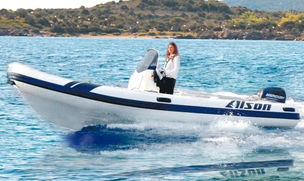 Rent 19' Alson Rigid Inflatable Boat in Marciana Marina, Italy