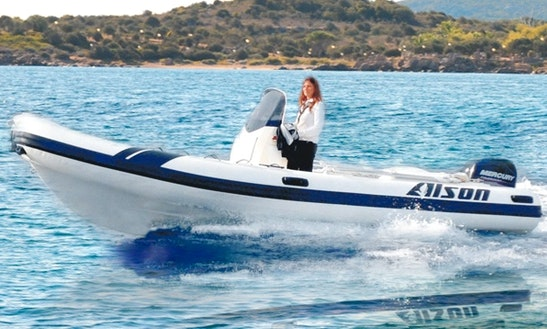 Rent 19' Alson Rigid Inflatable Boat In Marciana Marina, Italy
